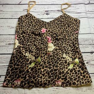 Leopard and floral camisole by Express Sz small